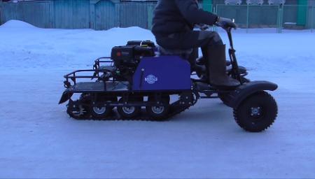 Мотобуксировщик ЛИДЕР-3-3T-15 с колесным модулем