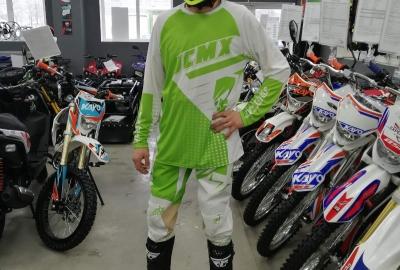 Штаны для мотокросса JCMX White Green
